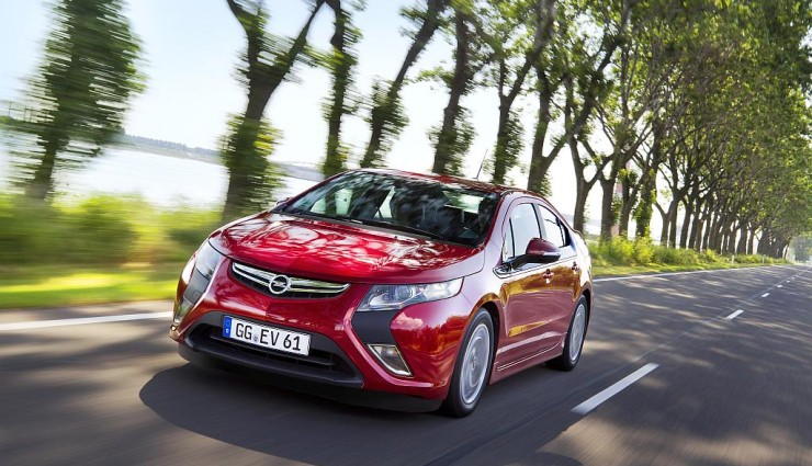 Opel Ampera rot, Front
