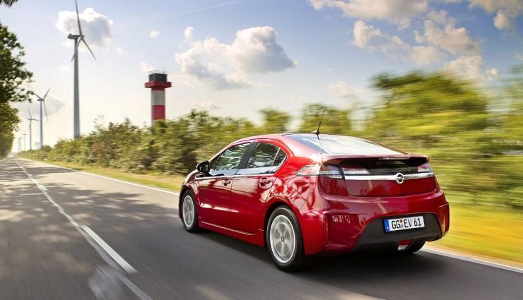 Opel Ampera rot, Heck