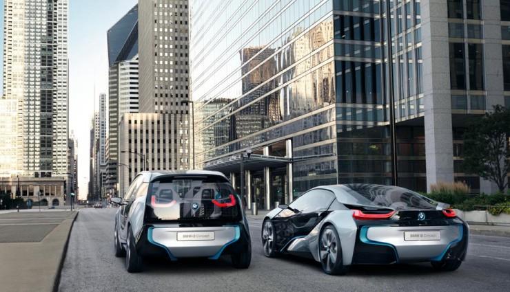 BMW i3 & i8, Heckansicht