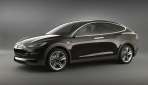Tesla Model X Seitenansicht