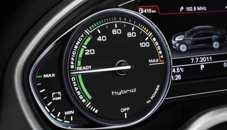 Audi A8 hybrid, Powermeter