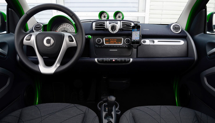 smart fortwo electric drive Interieur