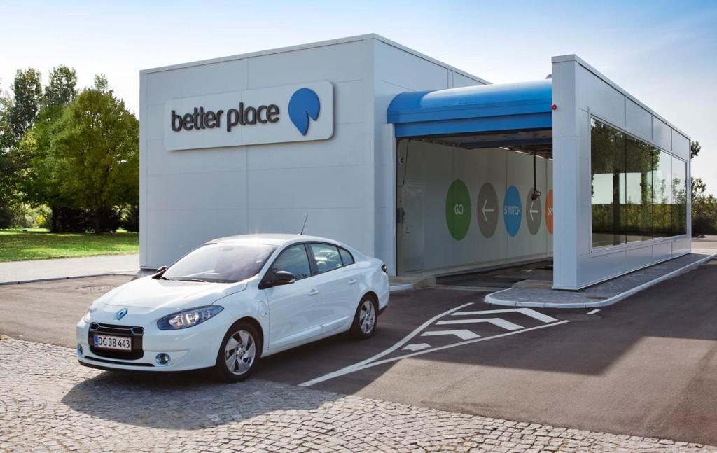 Better Place Batteriewechsel Elektroauto