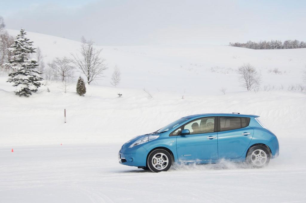 Der Nissan Leaf im Minusgrade-Test