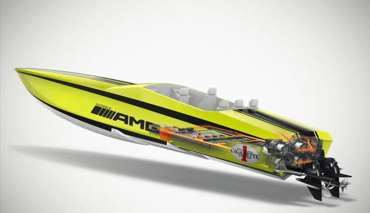 Mercedes-AMG Concept Cigarette AMG Electric Drive Querschnitt