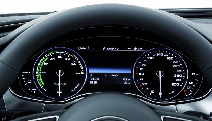 Audi A6 hybrid Anzeige