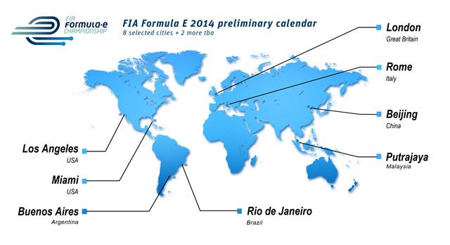 Formula E 2012 Kalender Termine