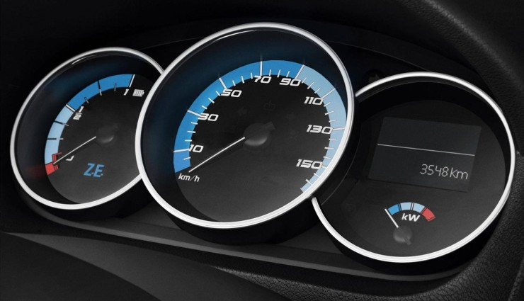 Renault Fluence ZE Bordcomputer