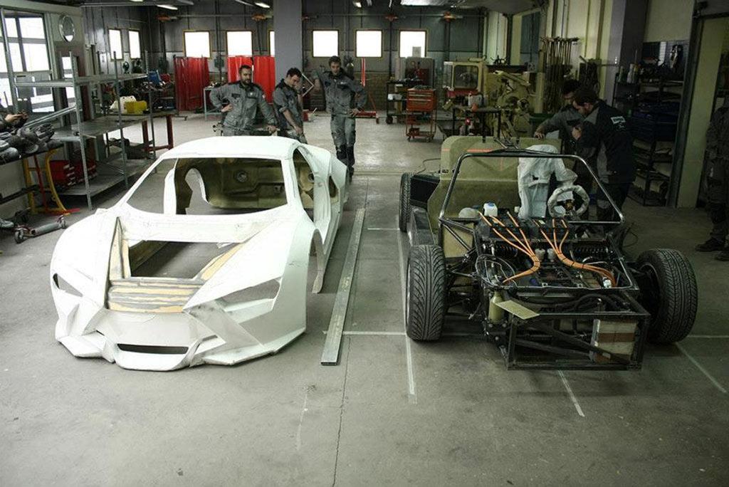 Sbarro Réact'EV Hybrid Entwurf