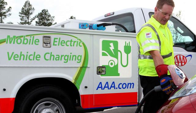 AAA mobile charging truck