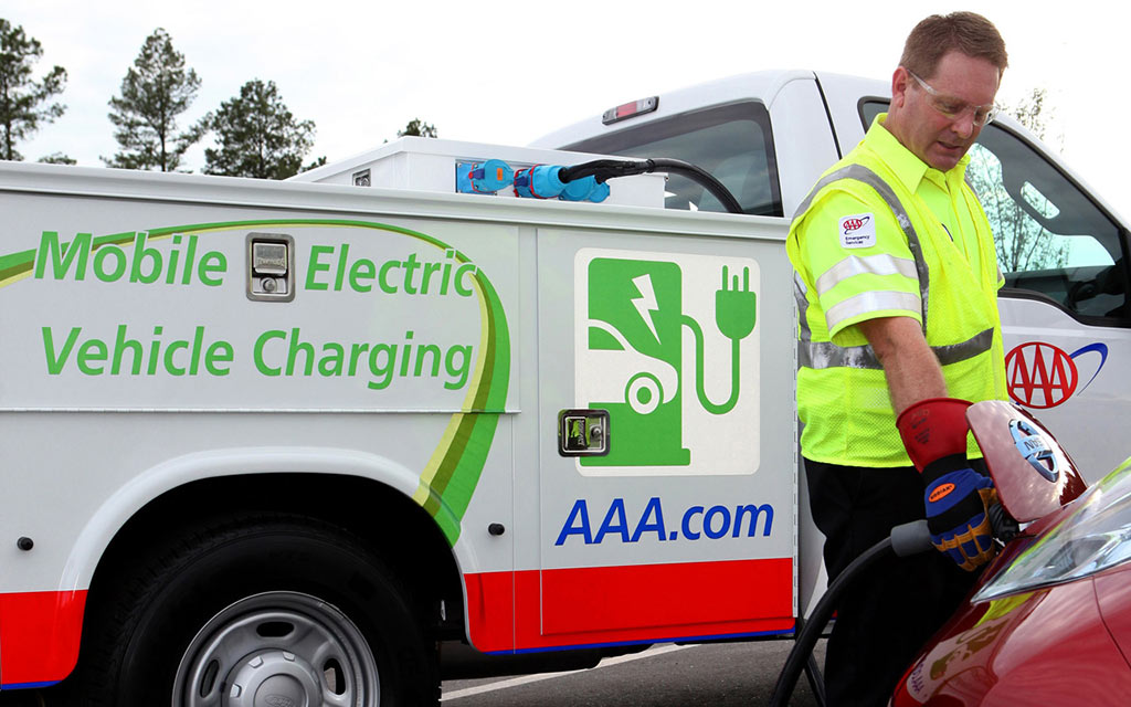 AAA mobile charging truck