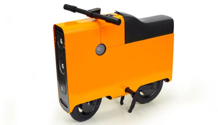 Elektroroller The Boxx - Stauraum Orange