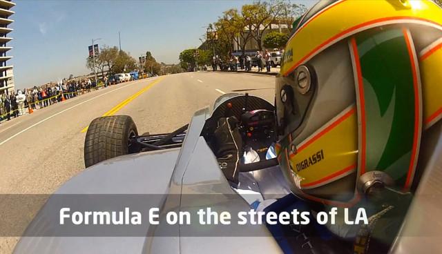 Formel-E-Renner in den Straßen von L.A.