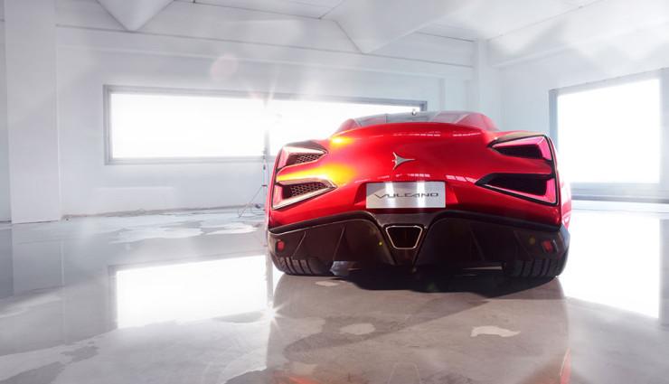 Icona Vulcano Hybrid-12-Zylinder Heck