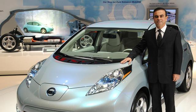 Nissan-Chef Carlos Ghosn: Stromtankstellen Aufgabe der Regierung