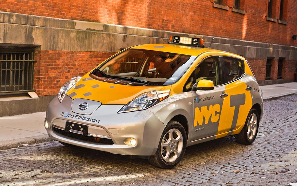 Nissan-Leaf-Taxi New York