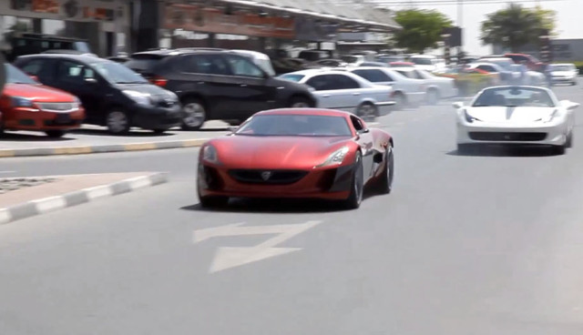 Rimac Concept One vs Ferrari 458 Spider