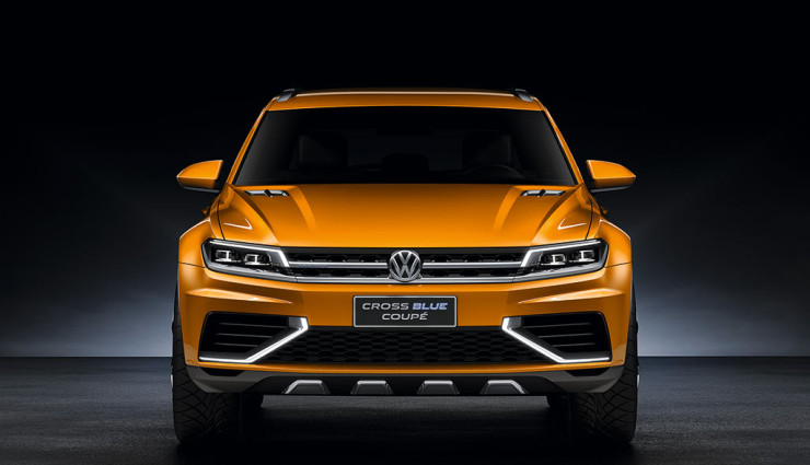 VW CrossBlue Coupe Front