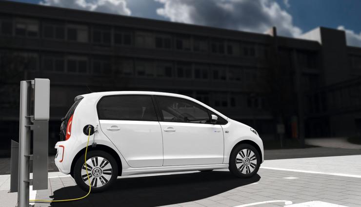 VW e-up! Elektroauto Ladestation