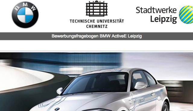 BMW startet Langstreckenprojekt mit dem ActiveE in Leipzig