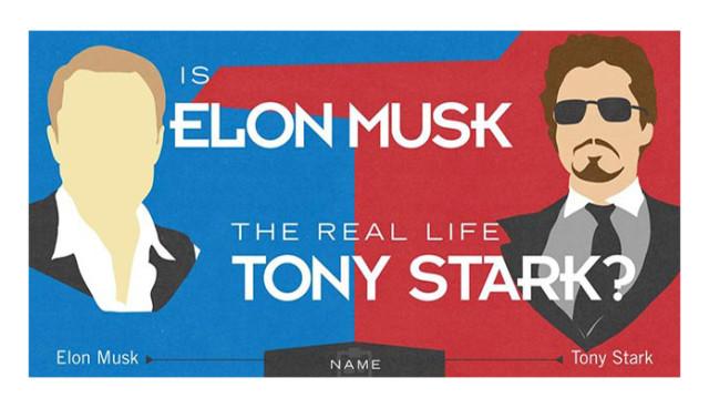 Elon Musk - Tony Stark, Iron Man