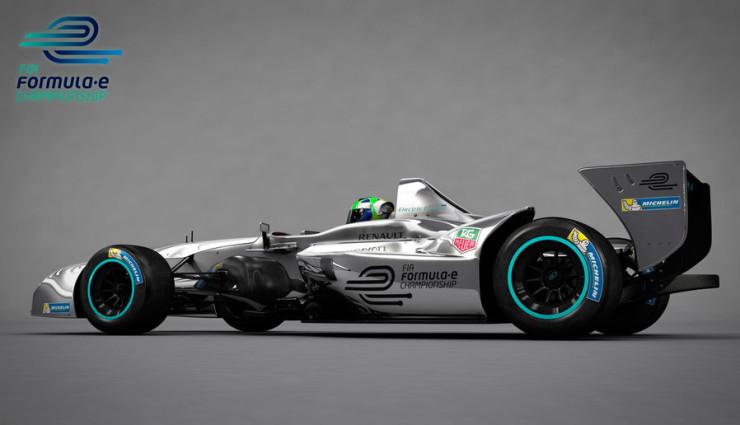 Formel-E-Rennwagen-Design 2013 Seite