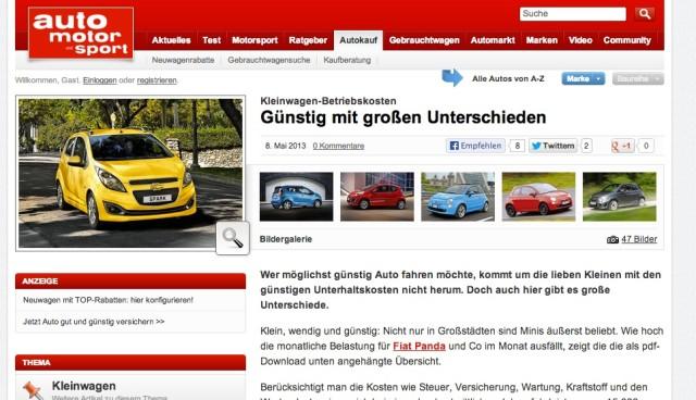 Kleinwagen-Betriebskosten: smart fortwo mhd am günstigsten