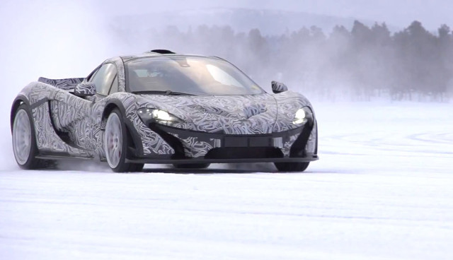 McLaren P1 Video - Wintertests Schnee