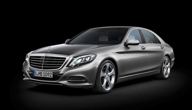 Neue Mercedes S-Klasse Diesel- und Benzin-Hybrid 2013 Front 2