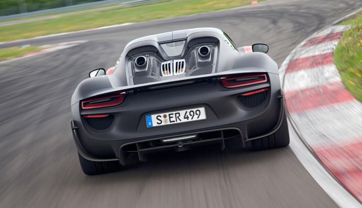 Porsche 918 Spyder Hybrid Heck
