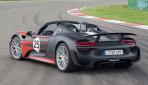 Porsche 918 Spyder Hybrid Heck offen Stand