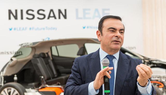 Renault-Nissan - Carlos Ghosn von Nissan Leaf und Elektromobilität überzeugt