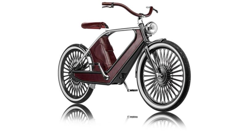 Cykno E-Bike Elektrofahrrad Braun Vorne