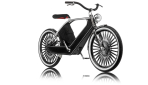 Cykno E-Bike Elektrofahrrad Schwarz Front