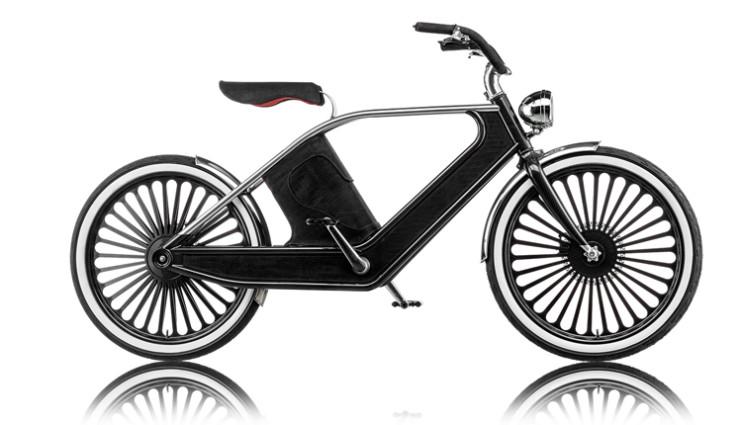 Cykno E-Bike Elektrofahrrad Schwarz Seite