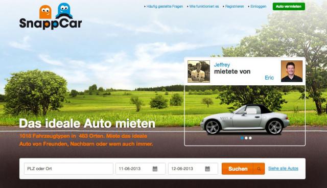 Privat-Carsharing SnappCar Deutschland