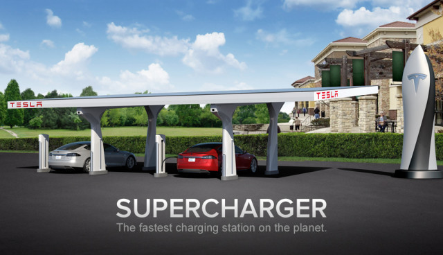 Tesla Supercharger-Ladestation Deutschland