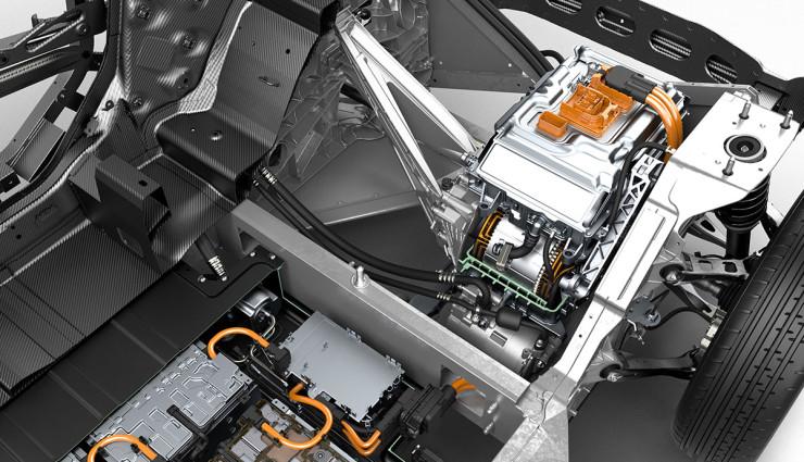 BMW i3 Bilder Motor und Batterien