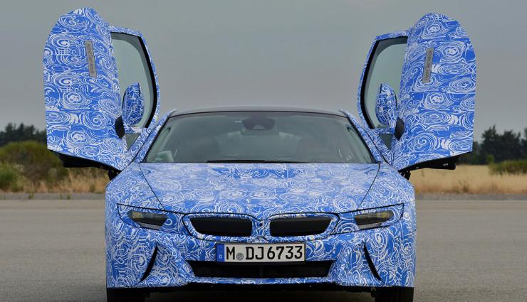 BMW i8 Bilder Prototyp Fluegeltueren