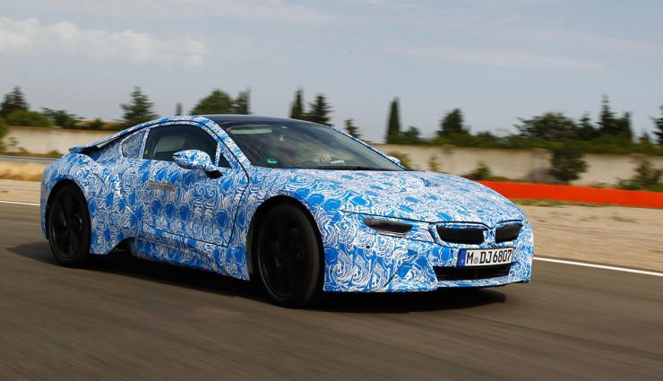 BMW i8 Bilder Prototyp Seite