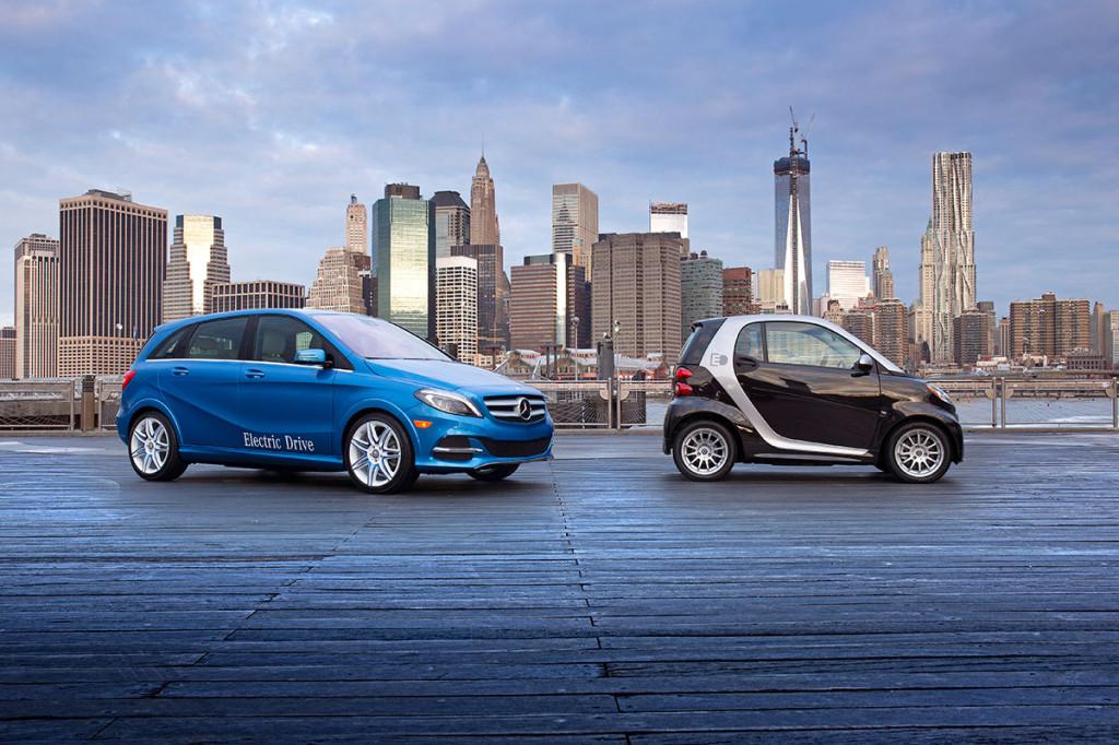 Daimler Elektro- und Hybridautos