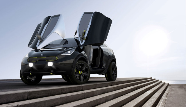 Kia Niro Concept Hybrid IAA 2013 Fluegeltueren