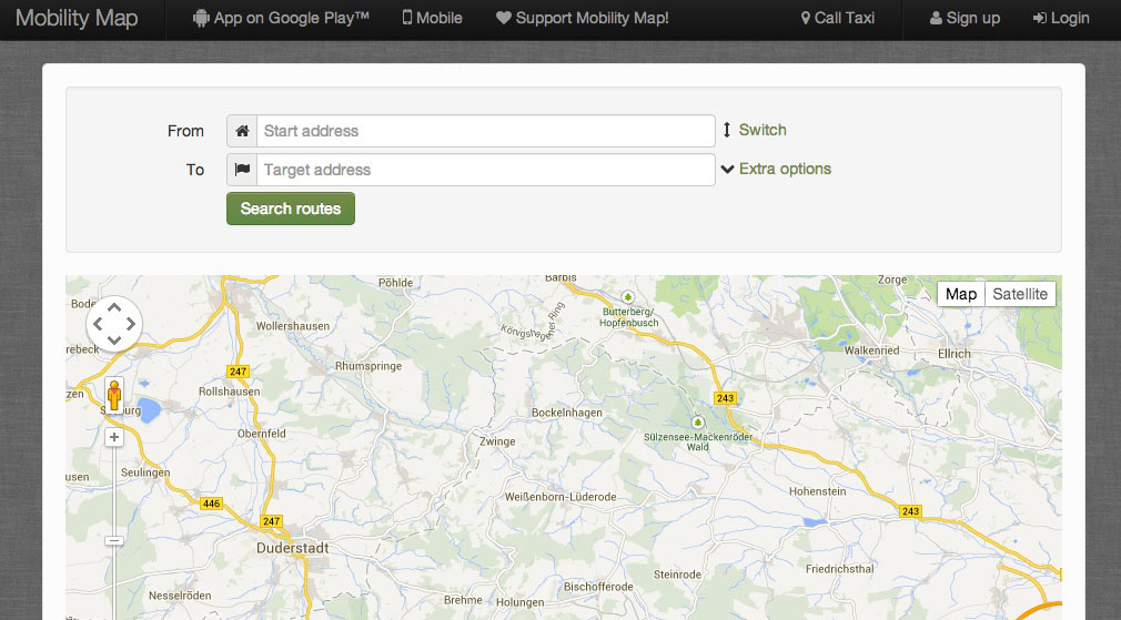 Mobility-Map-Routenplaner