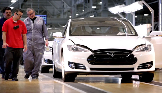 Tesla Model S Tests vor Auslieferung
