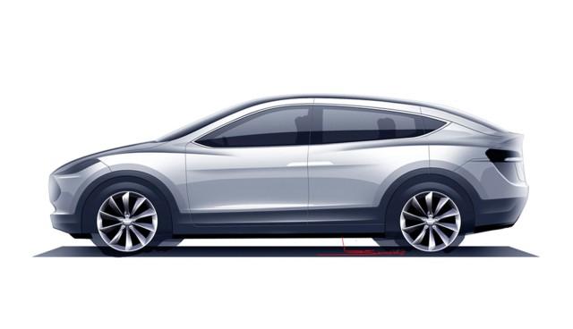 Tesla Model X ohne Seitenspiegel