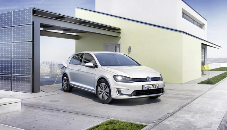 Volkswagen-e-Golf-Aufladen