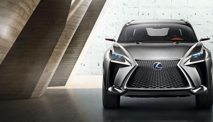 Lexus Hybrid-SUV LF-NX Front