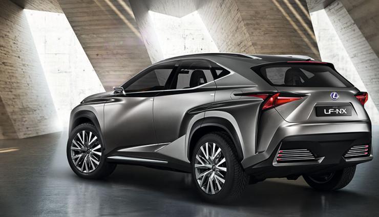 Lexus Hybrid-SUV LF-NX Heck
