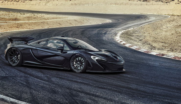 McLaren-P1-Hybrid-schwarz-Seite