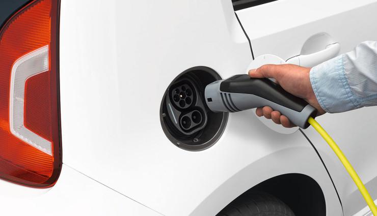VW Elektroauto e-up! aufladen